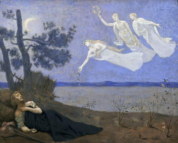 名画 絵画 最新 油絵 Pierre Puvis 安心と信頼 de Chavannes_夢