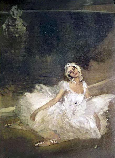 名画 絵画 お歳暮 新作 人気 油絵 Sir パブロワ Lavery_瀕死の白鳥_アンナ John