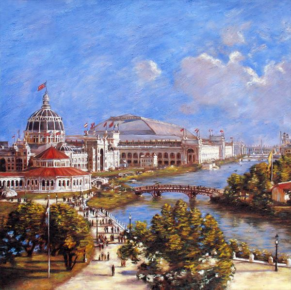 油絵 Theodore Robinsonの名作_ 世界博覧会