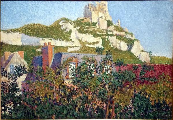 油絵 Paul Signac_ ガイヤール城