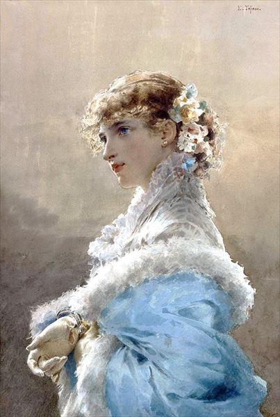 名画 最安値挑戦 絵画 油絵 定番 Edoardo_ショールをまとった婦人 Tofano