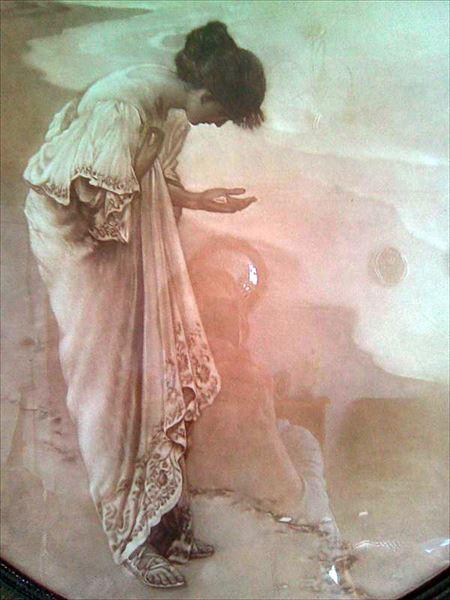名画 男女兼用 割り引き 絵画 油絵 Margetson_海の女神と真珠 William Henry