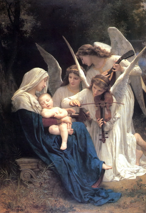 油絵 ブーグローの名作「天使のメロディ」