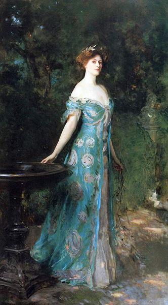 当店一番人気 名画 絵画 油絵 サージェント_公爵夫人デ サザーランド 本物
