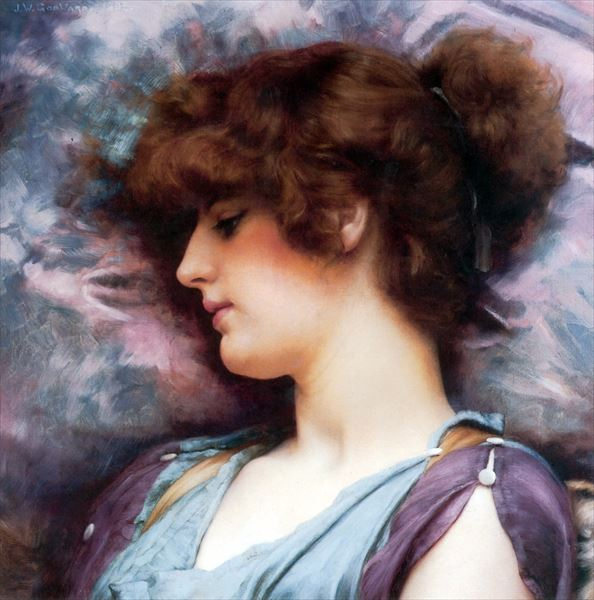 油絵 John William Godward_想い