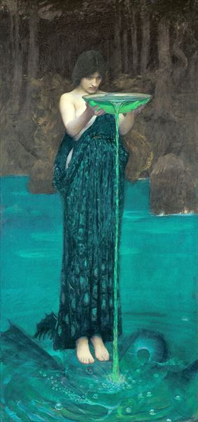 油絵 John William Waterhouse_Circe Invidiosa