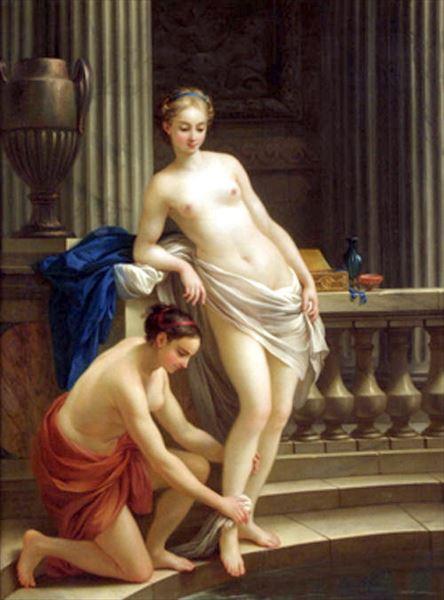 名画 絵画 油絵 Joseph-Marie Vien_ギリシャ婦人の水浴 限定モデル 店