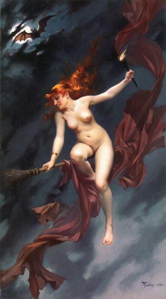 全商品オープニング価格 名画 絵画 油絵 Ricardo_魔女の安息日 Falero Luis 超人気 専門店