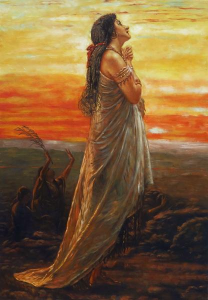 名画 絵画 油絵 George お見舞い Hicks_ 驚きの値段で Elgar エフタの娘の嘆き