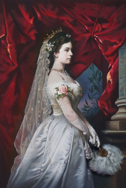 超激安 名画 絵画 (訳ありセール 格安) 油絵 ウジェニー皇后の肖像