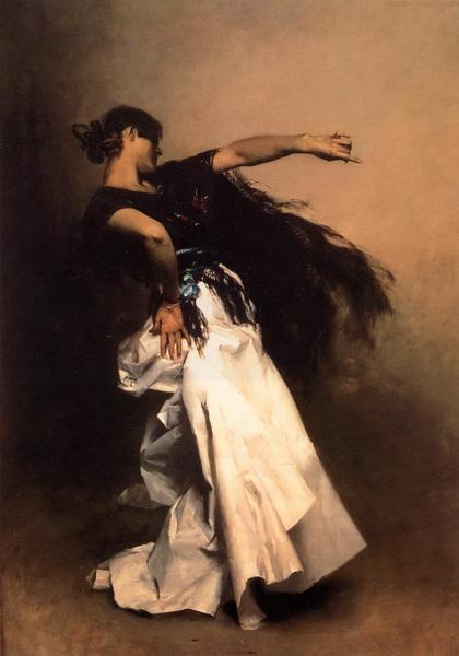 名画 絵画 SALE 油絵 サージェントの名作_スペインの踊り子 全品送料無料