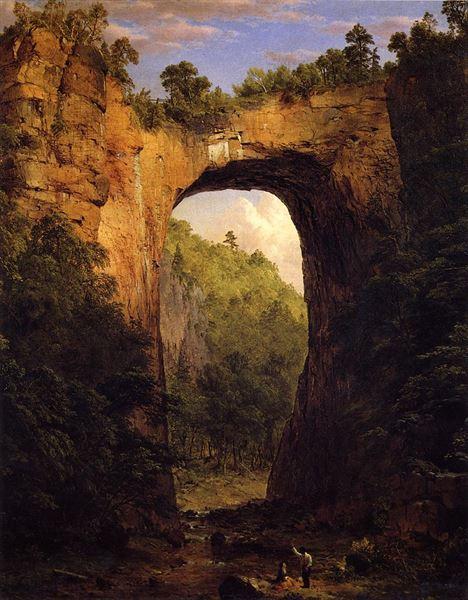 油絵 フレデリック・エドウィン・チャーチ_バージニア州の自然橋