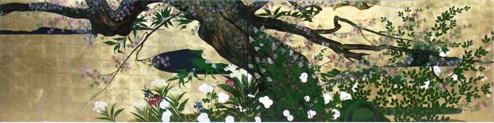 名画 絵画 漆  特価漆絵 長谷川等伯の名作「楓図」