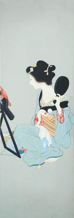 漆絵 上村松園の名作「化粧の図」