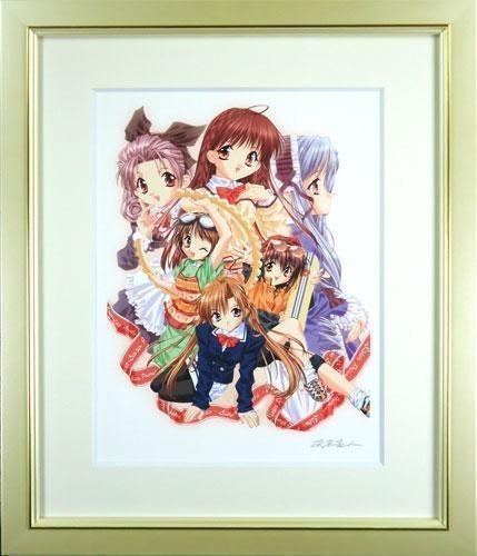 【版画】【中古】 DEAR MY SISTERS I (RED) ミックスドメディア 本人 鉛筆 サイン 天広直人(Naoto Tenhiro)