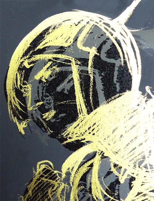 【送料無料/絵画・版画】【】天野喜孝(YoshitakaAmano)バードII(本人金ペンサイン)