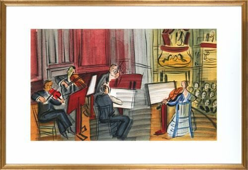 【版画】【中古】 弦楽五重奏~天使のコンサートより~ リトグラフ なし ラウル・デュフィ(Raoul DUFY)