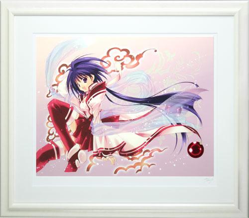【版画】【中古】 seven_colors ミックスドメディア 本人 鉛筆 サイン 七瀬葵(Aoi Nanase)