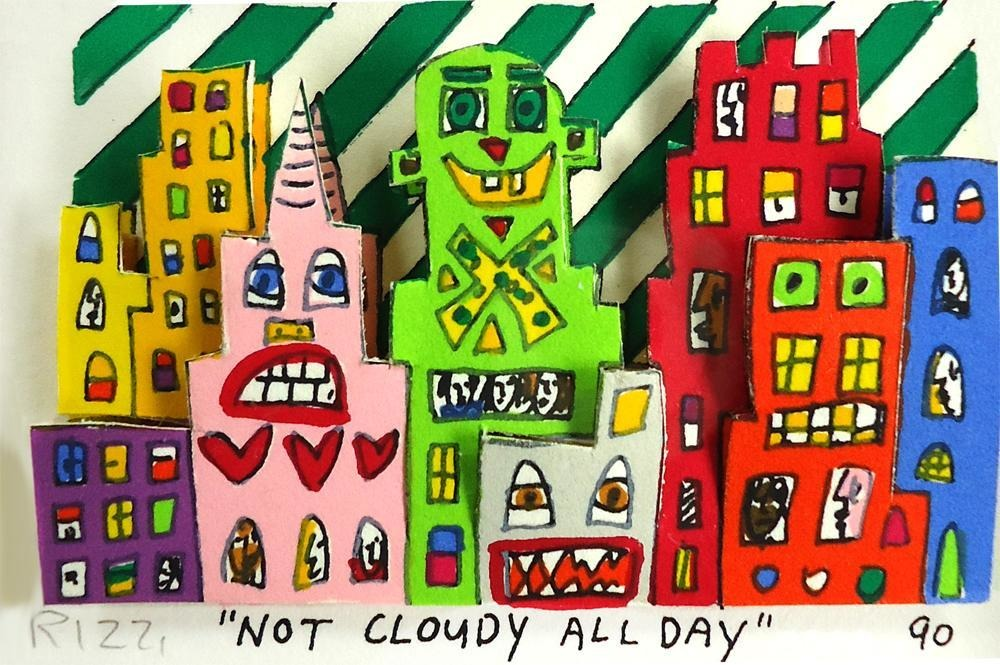 lizzy james james rizzi not cloudy all day individual pencil signed
