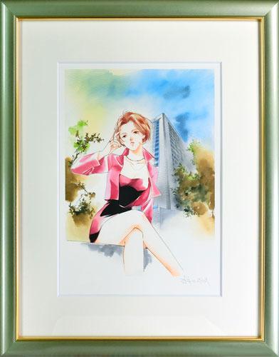 【版画】【中古】 薬師寺涼子 ~Advance Lady~ ミックスドメディア 本人 鉛筆 サイン 垣野内成美(Narumi Kakinouchi)