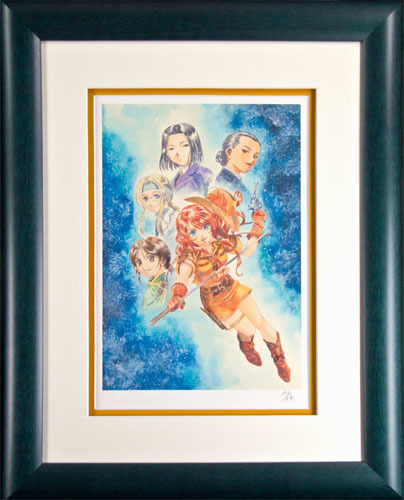 【版画】【中古】 地上の戦士 リトグラフ 本人 鉛筆 サイン サクラ大戦/松原秀典(Sakura Wars/Hidenori Matsubara)