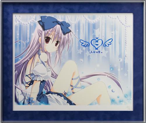 【版画】【中古】 STARDUST BLUE(DX) ミックスドメディア+手彩色 本人 鉛筆 サイン 梱枝 りこ(Riko Korie)