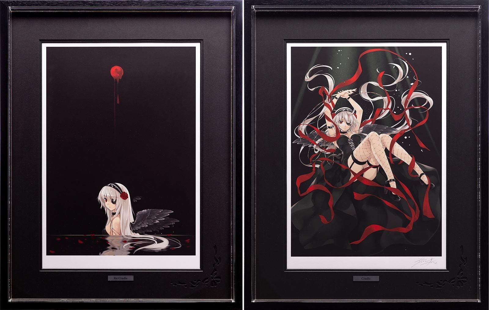 【版画】【中古】 Re:Cradle(特別額装版) ミックスドメディア 本人鉛筆サイン 深崎暮人(Kurehito Misaki)