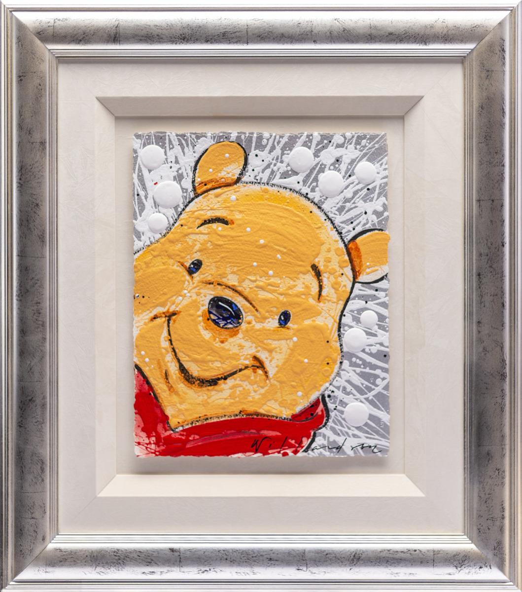 【版画】【中古】 MMMMM/クマのプーさん(オリジナル) アクリル 本人 ペン サイン 【ディズニー】デイビット・ウィラードソン(Disney David Willardson)
