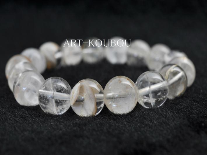 パワーストーン 天然石 アゲートインクォーツ(白)12mm一連ブレスレット 高品質 白 無色 男性 女性 成長と繁栄 対人関係 送料無料