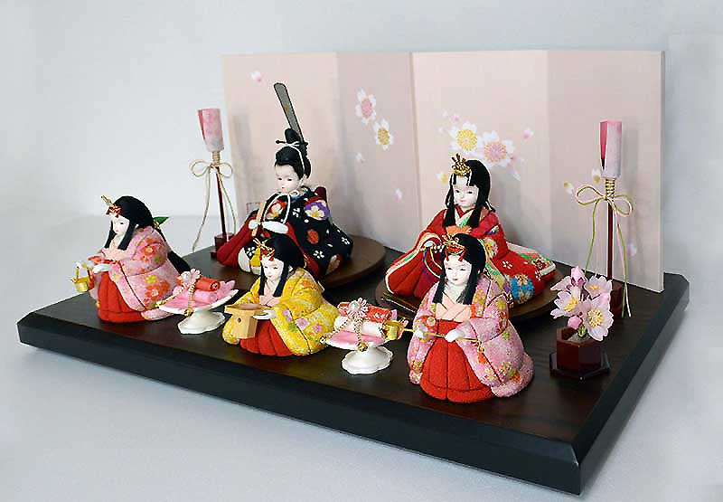 【プリンセス雛人形】木目込み人形 <希雛>五人飾り
