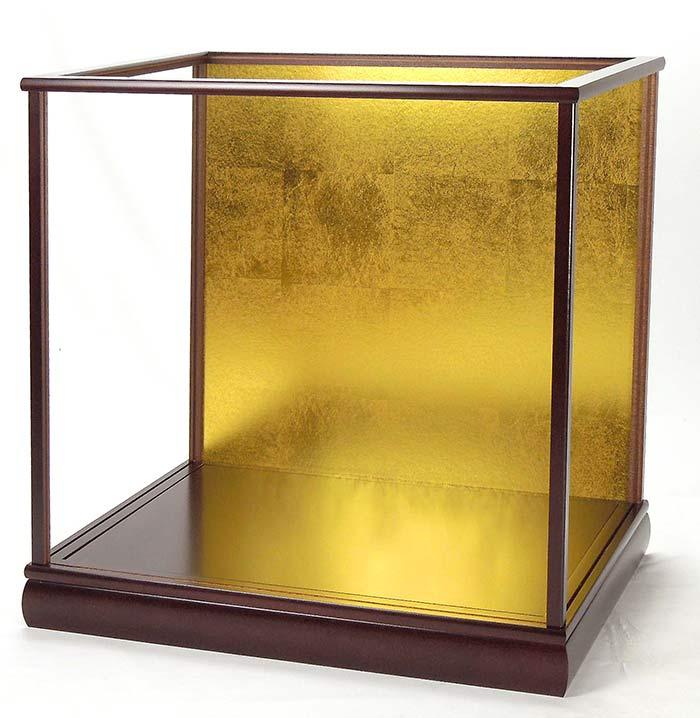 ※極上ガラスケース 人形ケース 空ケース マホガニー カブセ式ガラスケース【前幅42cm✕奥行き30cm✕高さ60cm】(内寸)