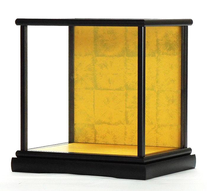 ※極上ガラスケース 人形ケース 空ケース カブセ式黒塗りガラスケース 置物ケース【前幅23cm✕奥行き18cm✕高さ26cm】(内寸)