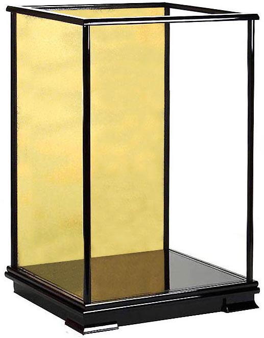 ※高級ガラスケース 人形ケース 空ケース カブセ式黒塗りガラスケース【前幅45cm✕奥行き35cm✕高さ75cm】(内寸)