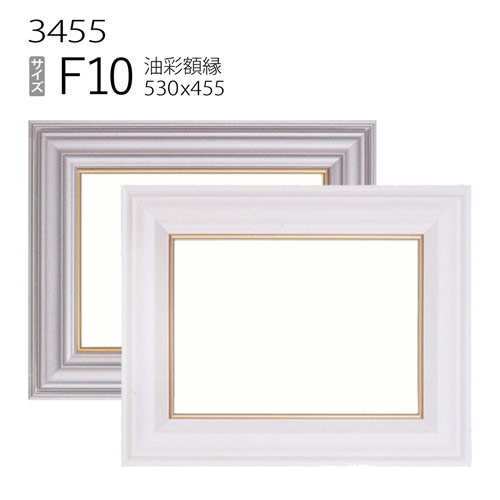油彩額縁 3455 F10 号(530×455) (アクリル仕様・樹脂製・油絵用額縁・キャンバス用フレーム)