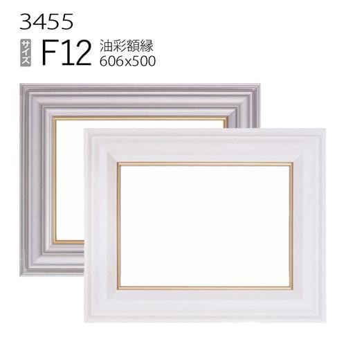 油彩額縁 3455 F12 号(606×500) (アクリル仕様・樹脂製・油絵用額縁・キャンバス用フレーム)