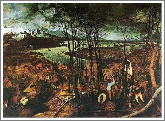複製画 送料無料 プレミアム 学割 絵画 油彩画 油絵 複製画 模写ピーテル・ブリューゲル「暗い日」 F12(60.6×50.0cm)サイズ プレゼント ギフト 贈り物 名画 オーダーメイド 額付き