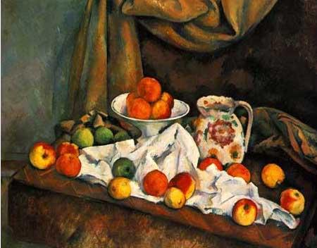 複製画 送料無料 プレミアム 学割 絵画 油彩画 油絵 複製画 模写ポール・セザンヌ「リンゴ」 F8(45.5×38.0cm) サイズ プレゼント ギフト 贈り物 名画 オーダーメイド 額付き