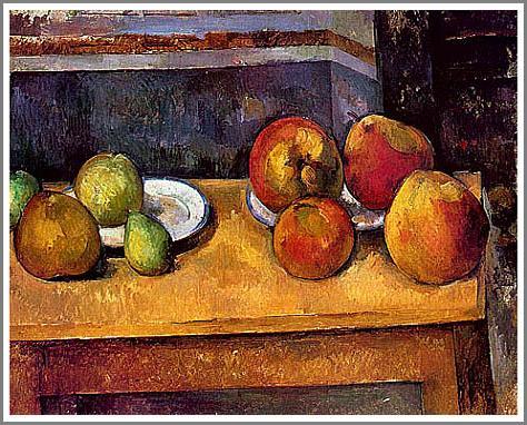 複製画 送料無料 プレミアム 学割 絵画 油彩画 油絵 複製画 模写ポール・セザンヌ「りんごと洋梨」 F12(60.6×50.0cm)サイズ プレゼント ギフト 贈り物 名画 オーダーメイド 額付き
