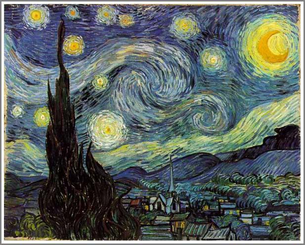 複製画 送料無料 プレミアム 学割 絵画 油彩画 油絵 複製画 模写フィンセント・ファン・ゴッホ「星月夜」 F15(65.2×53.0cm)サイズ プレゼント ギフト 贈り物 名画 オーダーメイド 額付き