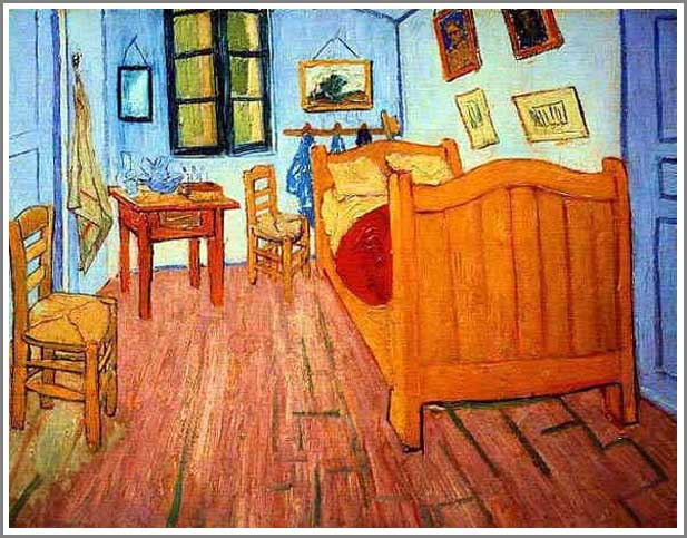 複製画 送料無料 プレミアム 学割 絵画 油彩画 油絵 複製画 模写フィンセント・ファン・ゴッホ「ゴッホの部屋」 F6(41.0×31.8cm) サイズ プレゼント ギフト 贈り物 名画 オーダーメイド 額付き