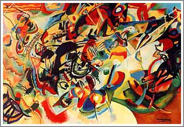 複製画 送料無料 プレミアム 学割 絵画 油彩画 油絵 複製画 模写ワシリー・カンディンスキー「Composition VII」 F8(45.5×38.0cm) サイズ プレゼント ギフト 贈り物 名画 オーダーメイド 額付き