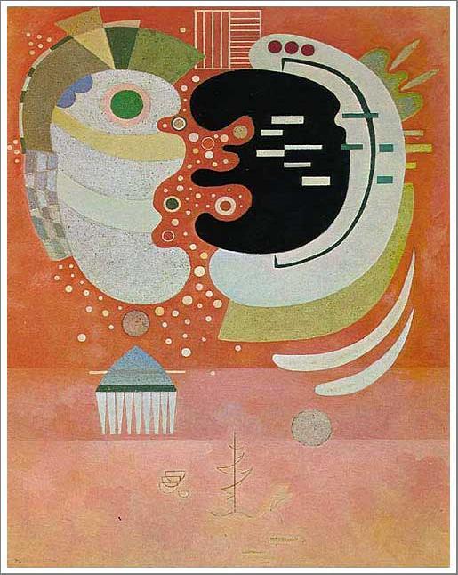 複製画 送料無料 プレミアム 学割 絵画 油彩画 油絵 複製画 模写ワシリー・カンディンスキー「二つの間」 F10(53.0×45.5cm)サイズ プレゼント ギフト 贈り物 名画 オーダーメイド 額付き