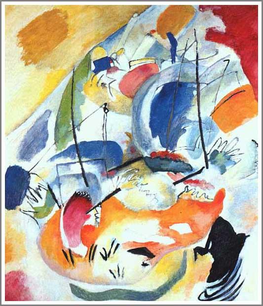 複製画 送料無料 プレミアム 学割 絵画 油彩画 油絵 複製画 模写ワシリー・カンディンスキー「Improvisation 31」 F12(60.6×50.0cm)サイズ プレゼント ギフト 贈り物 名画 オーダーメイド 額付き