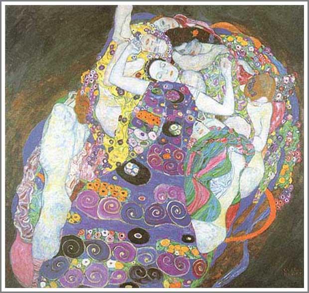 複製画 送料無料 プレミアム 学割 絵画 油彩画 油絵 複製画 グスタフ・クリムト「The Virgin(処女)」 F20(72.7×60.6cm)サイズ プレゼント ギフト 風水 名画 絵画 油絵複製画 オーダーメイド 無料額縁付き