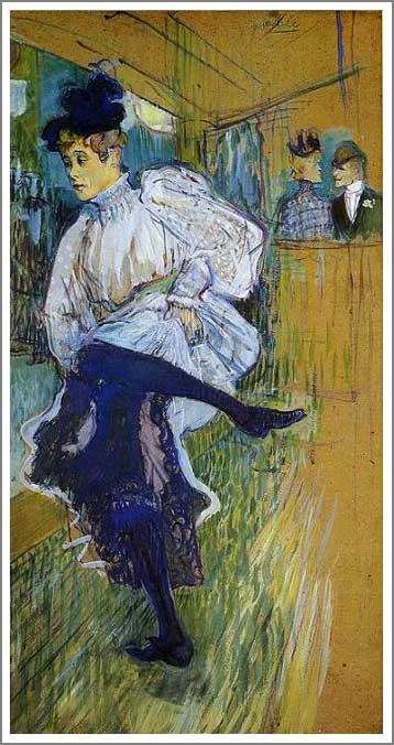 複製画 送料無料 プレミアム 学割 絵画 油彩画 油絵 複製画 模写ロートレック「踊るジャンヌ・アヴリル」 F10(53.0×45.5cm)サイズ プレゼント ギフト 贈り物 名画 オーダーメイド 額付き