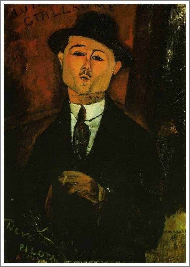 複製画 送料無料 プレミアム 学割 絵画 油彩画 油絵 複製画 模写アメデオ・モディリアーニ「ポール・ギヨームの肖像2」 F10(53.0×45.5cm)サイズ プレゼント ギフト 贈り物 名画 オーダーメイド 額付き