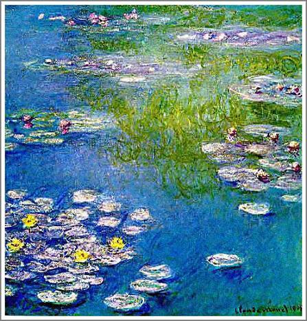 複製画 送料無料 プレミアム 学割 絵画 油彩画 油絵 複製画 模写クロード・モネ「睡蓮~青とピンク~」 F8(45.5×38.0cm) サイズ プレゼント ギフト 贈り物 名画 オーダーメイド 額付き