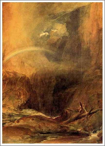 複製画 送料無料 プレミアム 学割 絵画 油彩画 油絵 複製画 模写ウィリアム・ターナー「悪魔の橋、サン・ゴタール」 F15(65.2×53.0cm)サイズ プレゼント ギフト 贈り物 名画 オーダーメイド 額付き
