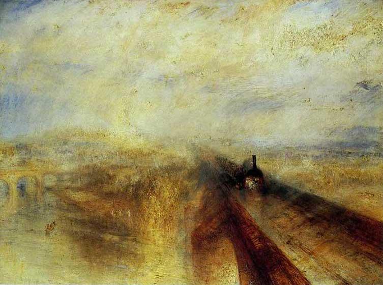 複製画 送料無料 プレミアム 学割 絵画 油彩画 油絵 複製画 模写ウィリアム・ターナー「雨、蒸気、速度 グレート・ウェスタン鉄道」 F12(60.6×50.0cm)サイズ プレゼント ギフト 贈り物 名画 オーダーメイド 額付き