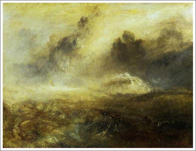 複製画 送料無料 プレミアム 学割 絵画 油彩画 油絵 複製画 模写ウィリアム・ターナー「難破船のいる荒れた海」 F12(60.6×50.0cm)サイズ プレゼント ギフト 贈り物 名画 オーダーメイド 額付き